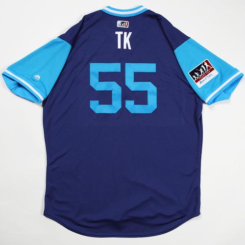 "Photo of Tom ""TK"" Koehler Los Angeles Dodgers Team-Issued 2018 Players' Weekend Jersey"