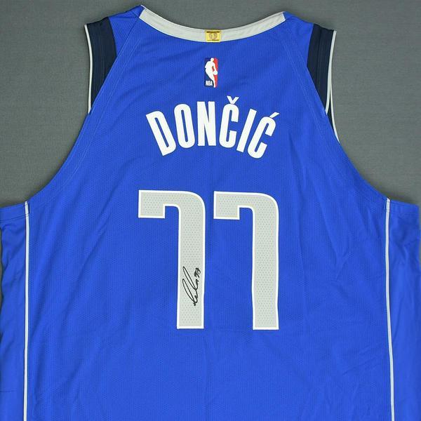 c300fff713c9 Luka Doncic - Dallas Mavericks - 2018 NBA Draft - Autographed Jersey ...