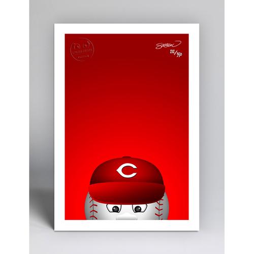 Photo of Mr. Red - Limited Edition Minimalist Mascot Art Print by S. Preston  - Cincinnati Reds
