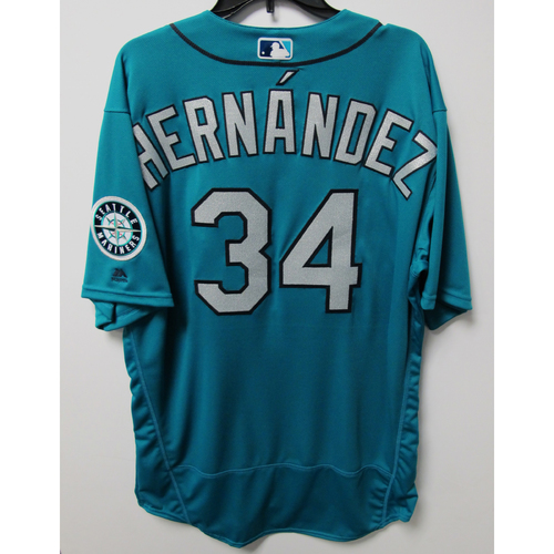 Seattle Mariners Felix Hernandez Team-Issued Green Jersey - 9/28/18 vs. TEX