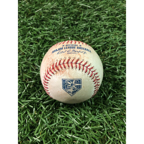 20th Anniversary Game Used Baseball: C.J. Cron RBI single off Francisco Liriano - July 9, 2018 v DET