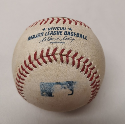 Photo of Authenticated Game Used Baseball - Nick Castellanos Double against Todd Redmond (August 10, 2014 vs DET). Top 5.