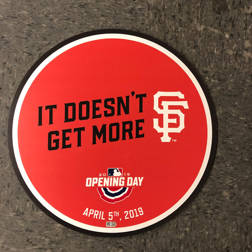 "Photo of 2019 Orange Opening Day Disc ""It Doesn't Get More SF"""