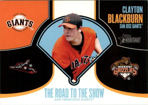 Photo of 2013 Topps Heritage Minors Road to the Show #CB Clayton Blackburn