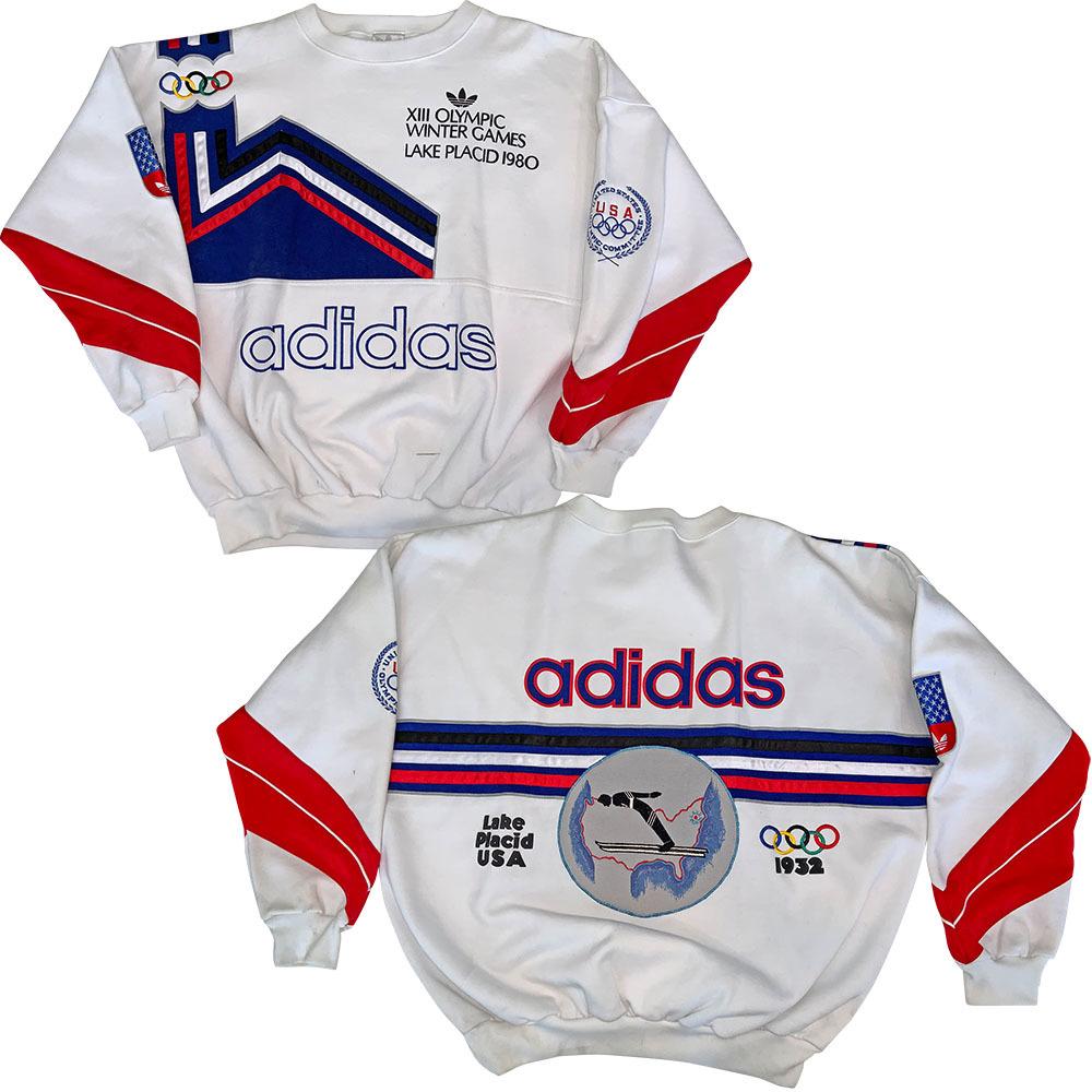 1980 adidas Lake Placid Olympic Sweatshirt NHL Auctions