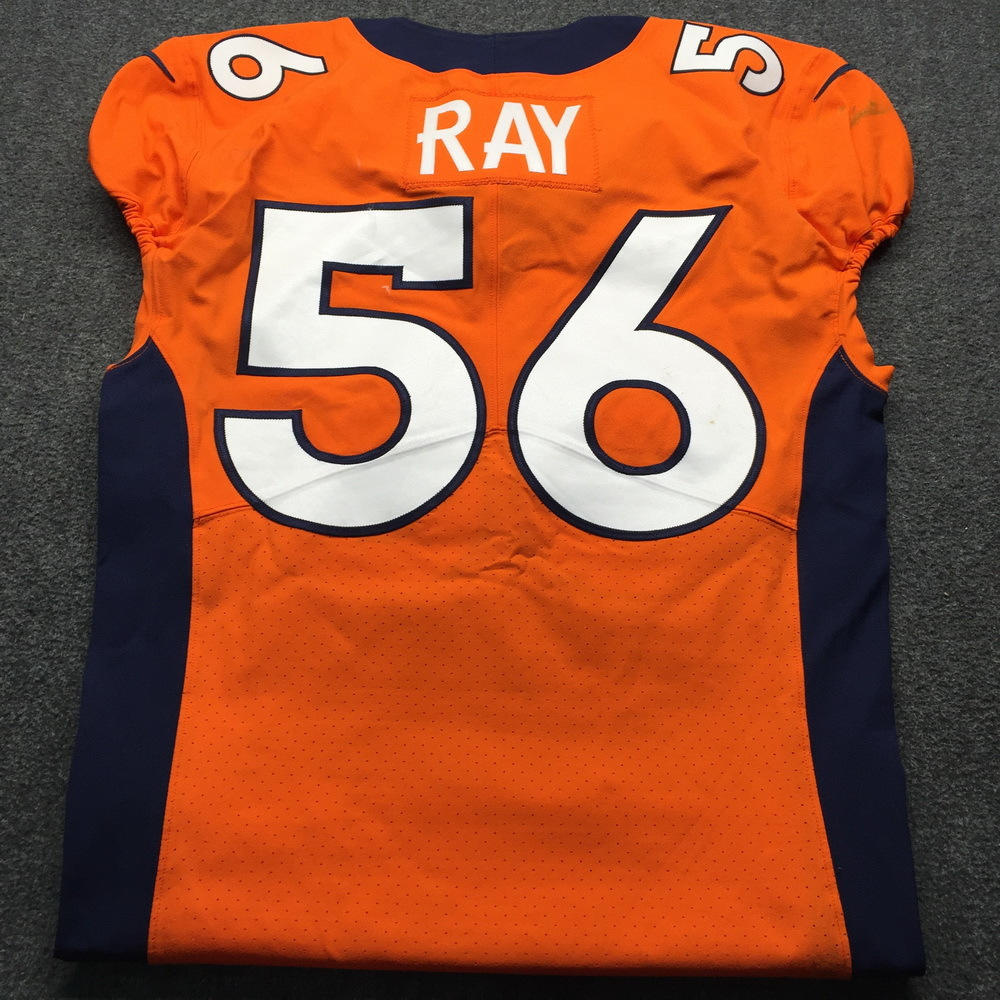 NFL Auction   Crucial Catch - Broncos Shane Ray Game Used Jersey ...