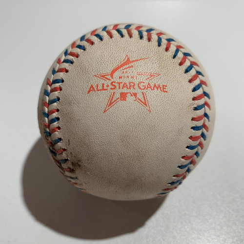 Photo of 2017 All Star Game - Game Used Baseball - Batter: Joey Votto/Cody Bellinger Pitcher: Chris Devenski - Strikeout/Ball