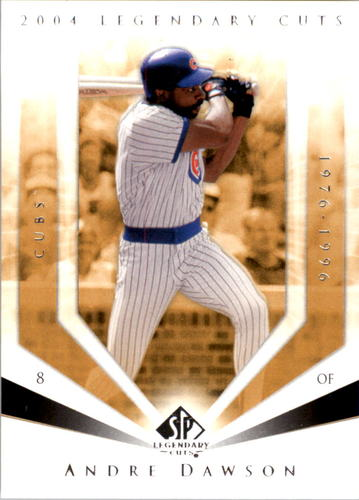 Photo of 2004 SP Legendary Cuts #4 Andre Dawson