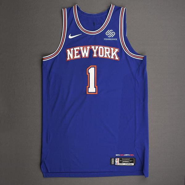 Image of Bobby Portis - New York Knicks - Kia NBA Tip-Off 2019 - Game-Worn Statement Edition Jersey - Knicks' Debut