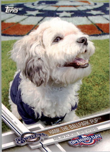 Photo of 2017 Topps Opening Day Mascots #M21 Hank the Ballpark Pup