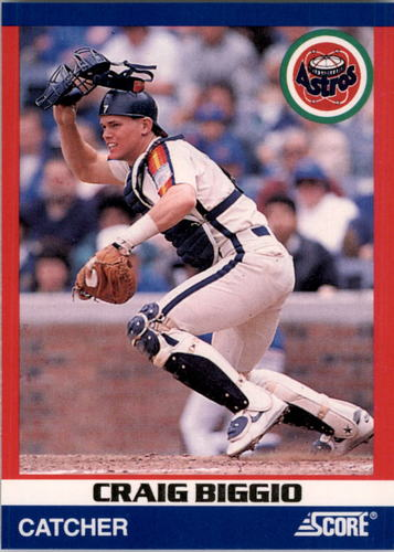 Photo of 1991 Score 100 Superstars #55 Craig Biggio