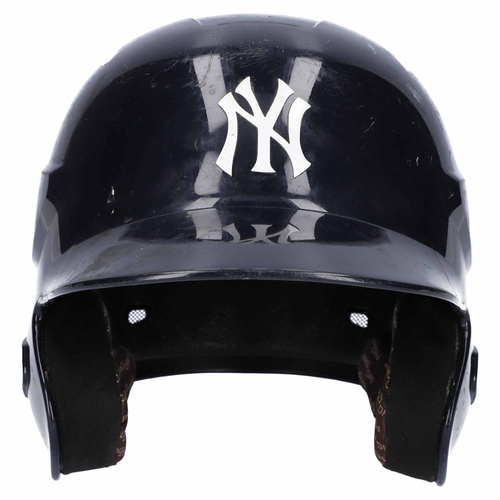 Photo of New York Yankees Team-Issued Bat Boy Batting Helmet from the 2017 MLB Season