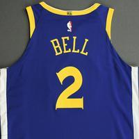 Jordan Bell - Golden State Warriors - NBA China Games - Game-Worn Icon Edition Jersey - 2017-18 NBA Season