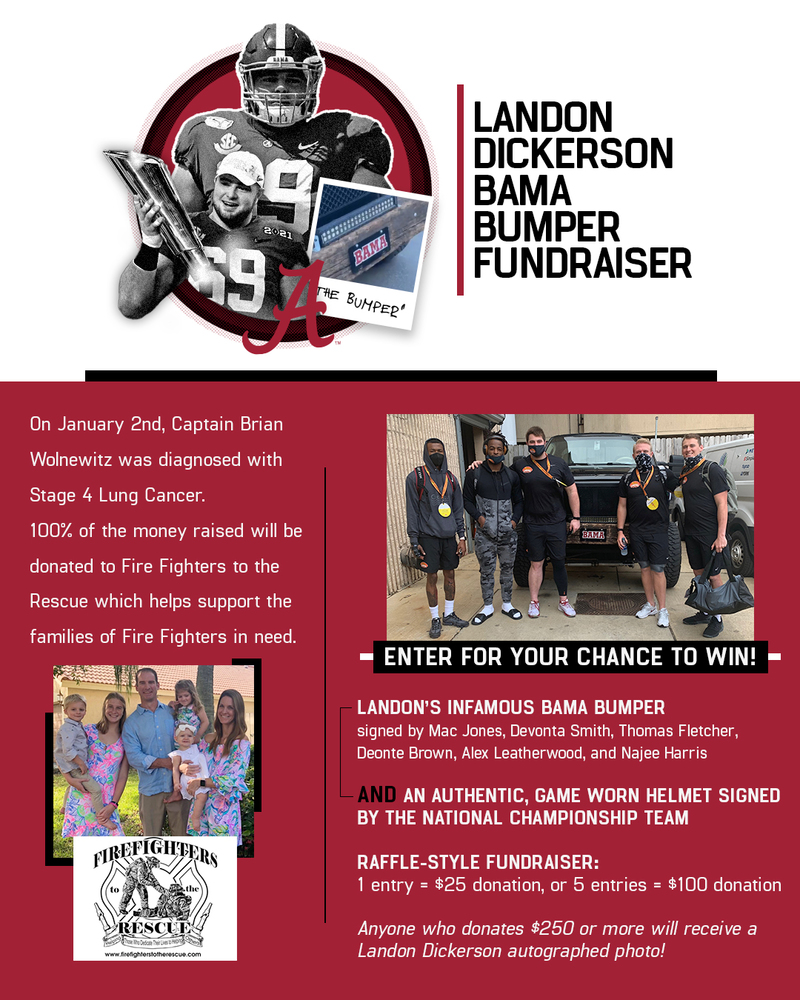 Landon Dickerson Bama Bumper Fundraiser
