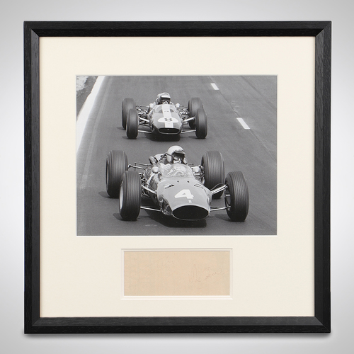 Photo of Lorenzo Bandini & Mike Spence Framed Signed Photograph