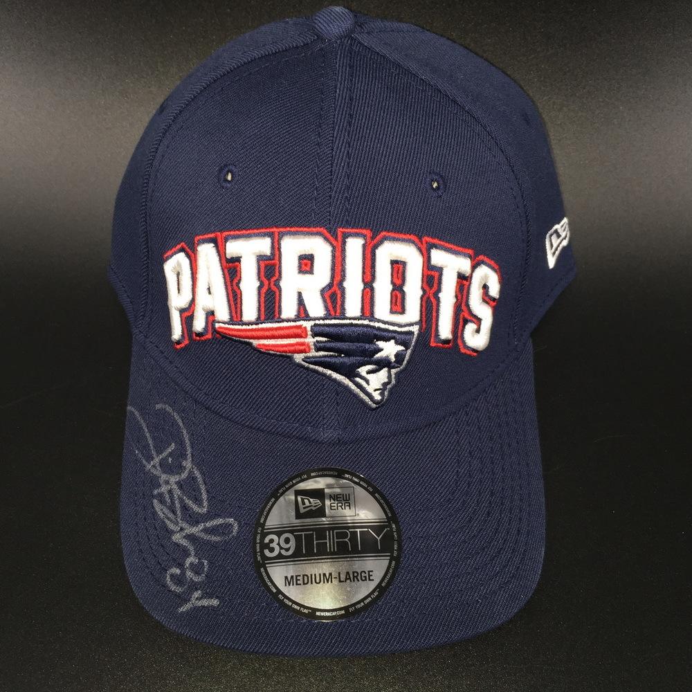 Patriots - Deion Branch Signed Hat Size M-L