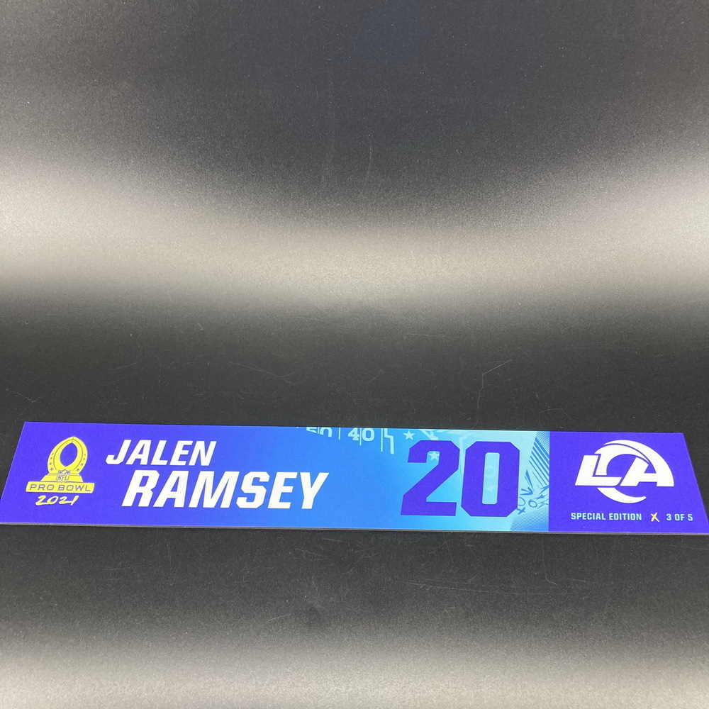 NFL - Rams Jalen Ramsey 2021 Pro Bowl Locker Nameplate Special Edition #3 of 5