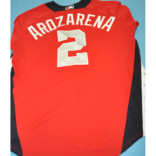 Photo of 2018 Futures Game - Batting Practice Used Jersey - Randy Arozarena - 7/15/2018 - Size 46