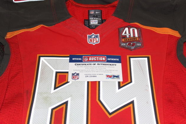 the latest 0a658 38563 NFL Auction | STS - BUCCANEERS CAMERON BRATE GAME WORN ...