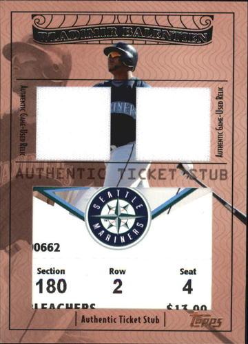 Photo of 2009 Topps Ticket to Stardom Ticket Stubs Plus Memorabilia Dual #TSP47 Wladimir Balentien/185
