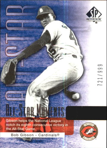 Photo of 2004 SP Authentic #148 Bob Gibson ASM
