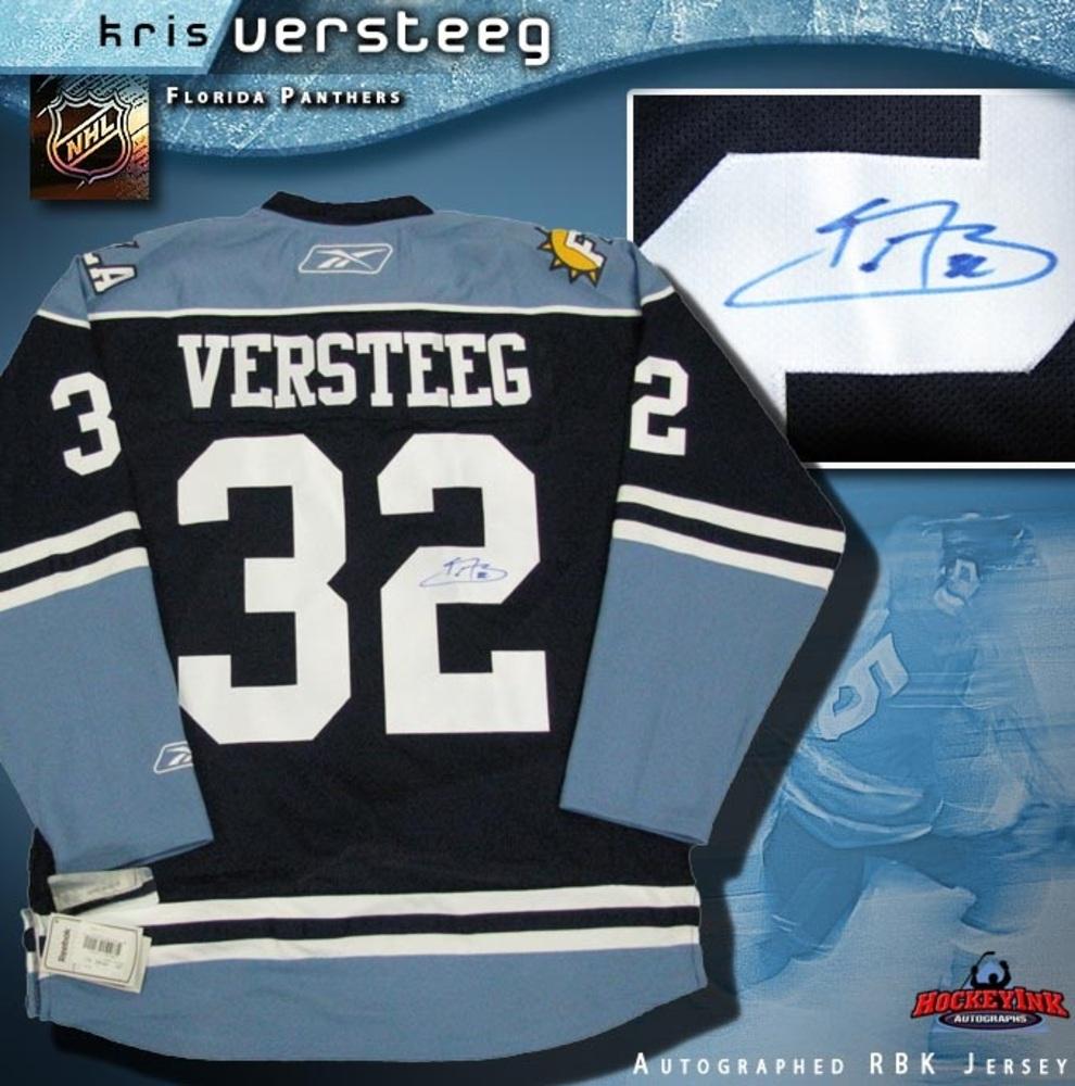 KRIS VERSTEEG Signed Florida Panthers 3rd Reebok Premier Jersey