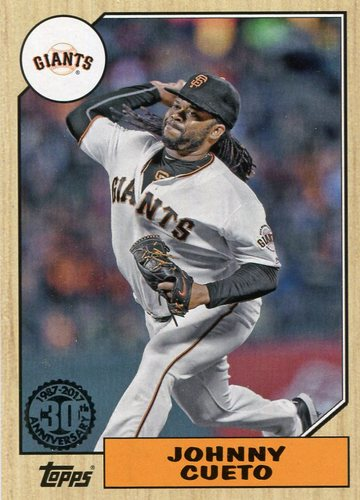 Photo of 2017 Topps '87 Topps #8795 Johnny Cueto