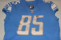 CRUCIAL CATCH - LIONS ERIC EBRON GAME WORN LIONS JERSEY (OCTOBER 8TH, 2017) SIZE 42