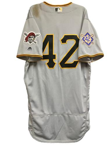 Photo of Corey Dickerson Game-Used 2018 Jackie Robinson Day Jersey - 2 for 4, 2 RBI