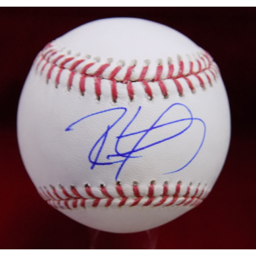 Photo of Ronald Guzman Autographed Baseball