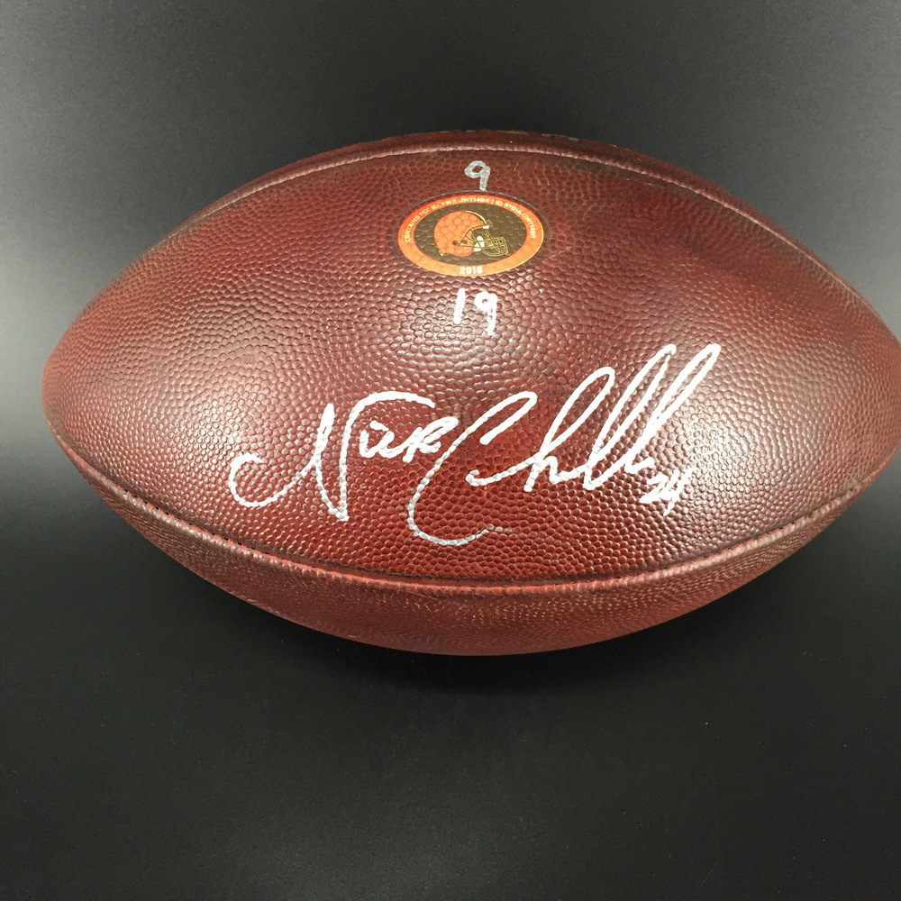 low priced 70606 02562 NFL Auction | Crucial Catch - Browns Nick Chubb Signed and ...