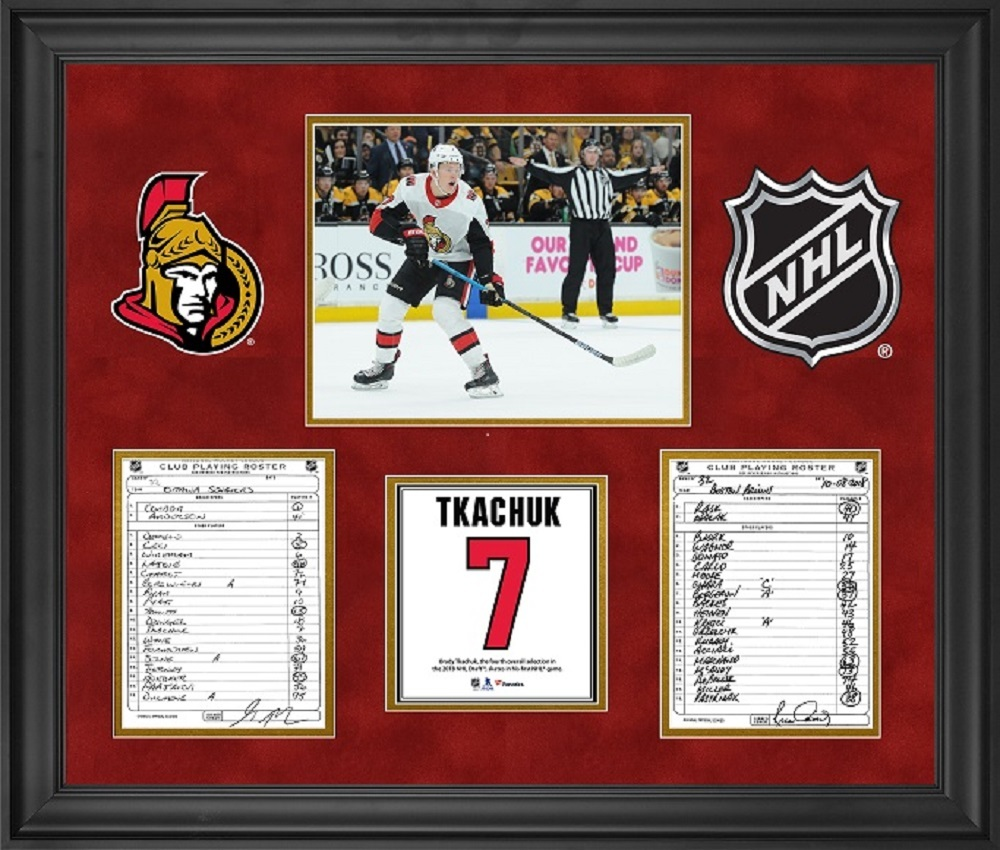 Ottawa Senators Framed Original Line-Up