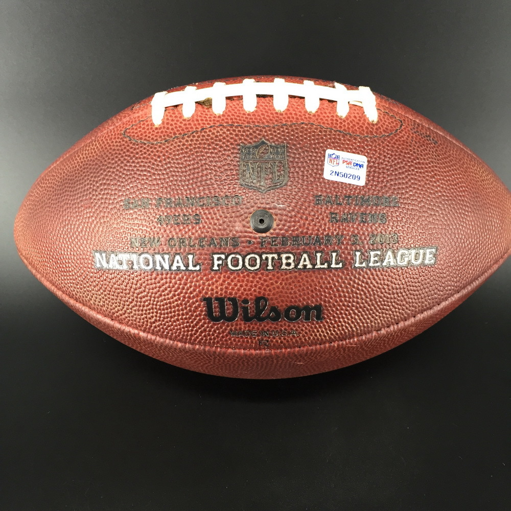 NFL - SuperBowl 47 Game used Football Ravens Offense / 49ers Defense