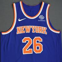 Mitchell Robinson - New York Knicks - 2018-19 Season - London Games - Game-Worn 1st Half Blue Icon Edition Jersey