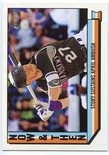 Photo of 2016 Topps Heritage Now and Then #NT1 Trevor Story