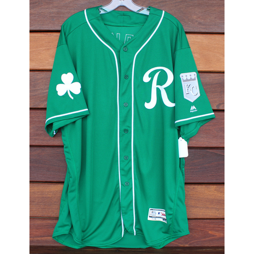 Photo of Team-Issued St. Patrick's Day Jersey: Trevor Oaks (Size - 50)