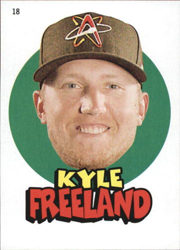 Photo of 2016 Topps Heritage Minors '67 Topps Stickers #18 Kyle Freeland