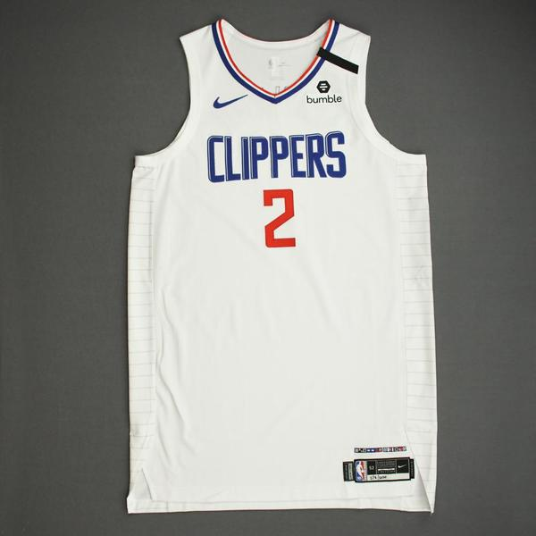 Image of Kawhi Leonard - Los Angeles Clippers - Game-Worn Association Edition Jersey - Scored Team-High 22 Points - 2019-20 NBA Season