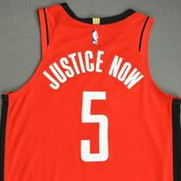 Bruno Caboclo - Houston Rockets - Game-Issued Icon Edition Jersey - 2019-20 NBA Season Restart with Social Justice Message