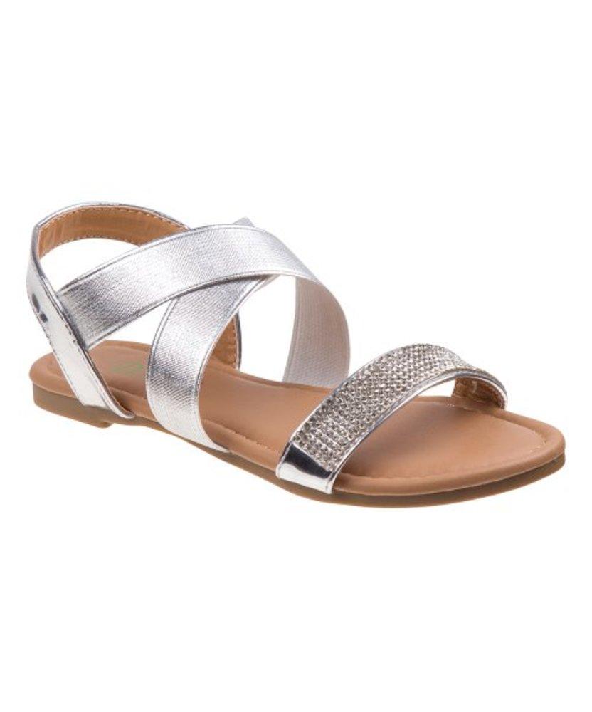 Photo of Rhinestone-Embellished Crisscross Sandal