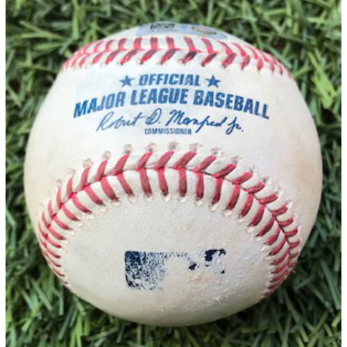 Photo of Game-Used HOME RUN Baseball by 2020 World Series Participant Enrique Hernández, 9/9/20 Los Angeles Dodgers at Arizona Diamondbacks: Home Run off of Taylor Clarke