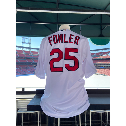 Photo of Cardinals Authentics: 2018 Game Worn Dexter Fowler Home White Jersey