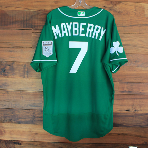 Photo of Team-Issued 2020 St. Patrick's Day Jersey: John Mayberry #7 - Size 48