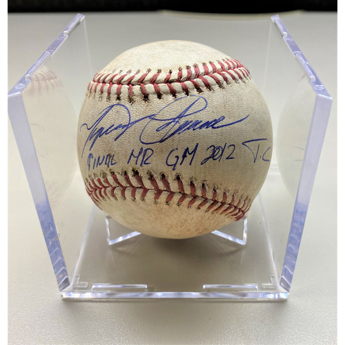 Cabrera Exclusive! Autographed Game-Used Baseball: Miguel Cabrera Final Home Run Game 2012 Triple Crown Season (MLB AUTHENTICATED)
