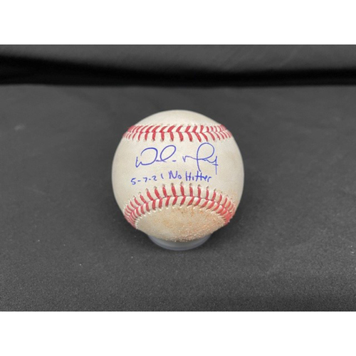 Photo of Wade Miley No-Hitter - *Autographed Game-Used Baseball* - Top 2 - Zach Plesac to Mike Moustakas (Foul) - Inscribed as 5-7-21 No Hitter