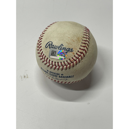 Photo of Game Used Baseball - 7/2/2021 Astros at Indians- Ryne Stanek pitches to Franmil Reyes; single Bottom 7th
