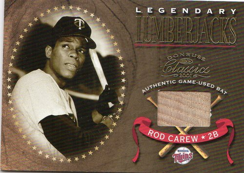 Photo of 2001 Donruss Classics Legendary Lumberjacks #LL46 Rod Carew