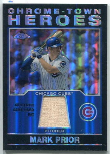 Photo of 2004 Topps Chrome Town Heroes Relics #MP Mark Prior Bat