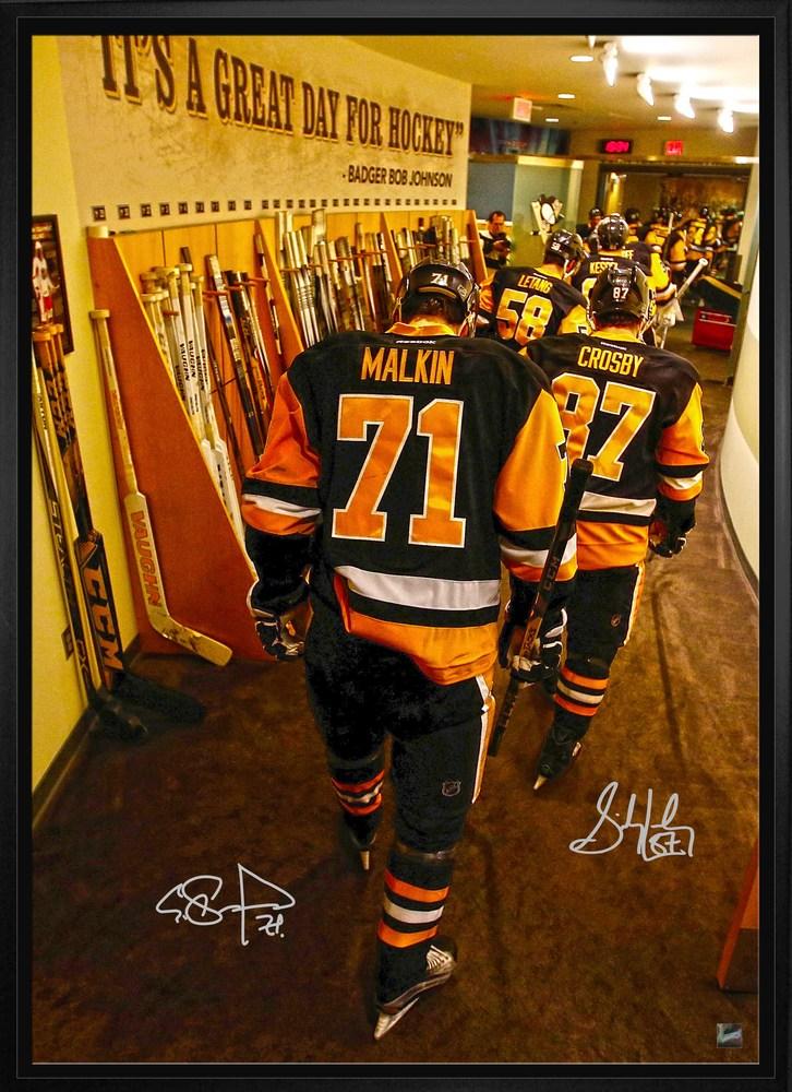 Sidney Crosby & Evgeni Malkin - Pittsburgh Penguins Dual Signed & Framed 20x29