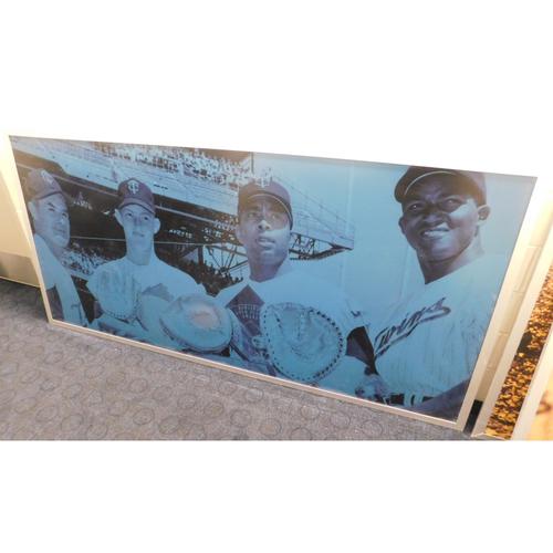 Photo of Target Field Met Club Bar Panels - Jim Kaat, Earl Battey, Vic Power - PICK-UP ONLY